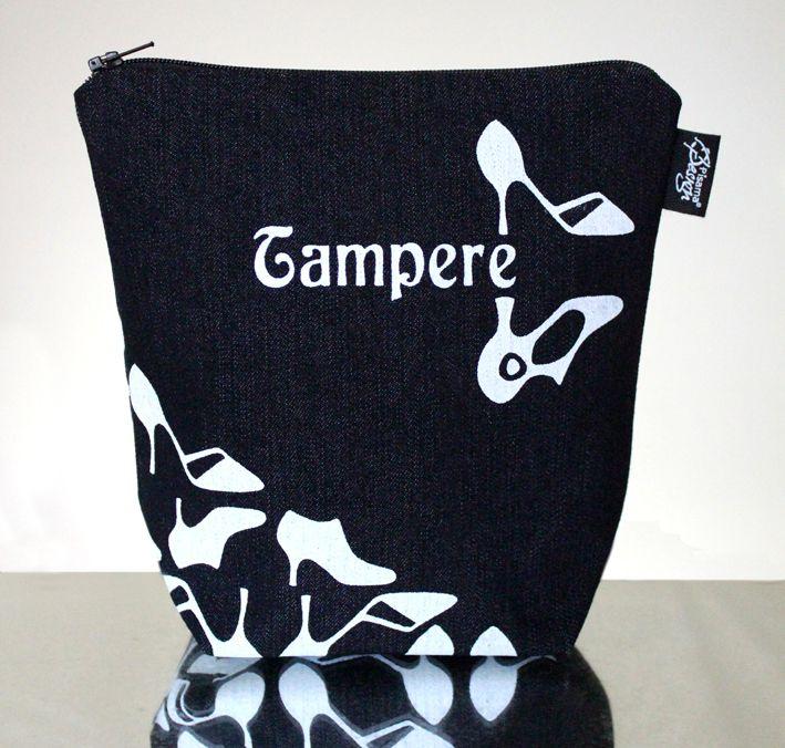CityChic -meikkilaukku // CityChic make-up bag  (Design by Pisama Design)