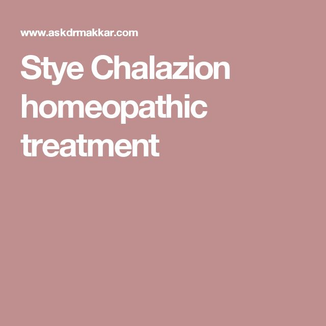 Stye Chalazion homeopathic treatment