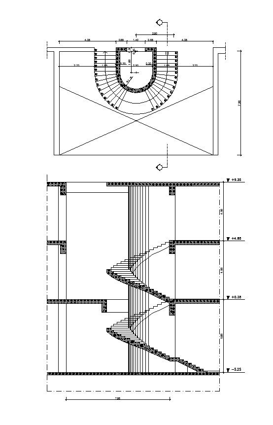 23 best images about stair details on pinterest Spiral stair cad
