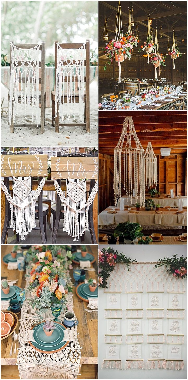 Ideas and Inspiration for your Boho Macramé Theme Wedding