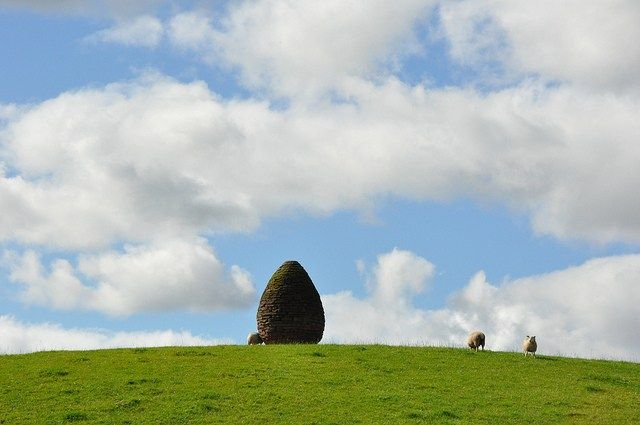 Andy Goldsworthy's Millennium Cairn in Penpont in Scotland