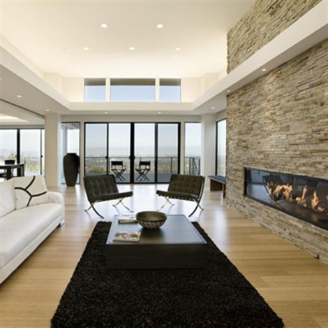 Modern and Contemporary Dream Home with Stone wall