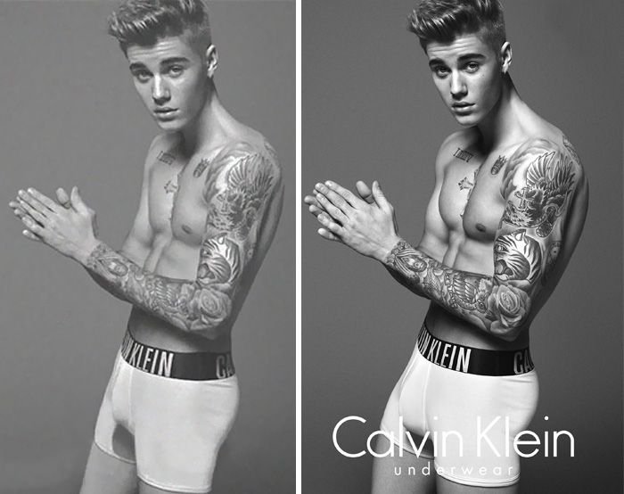 Unbelievable pictures of celebrities before and after Photoshop   Vuing.com