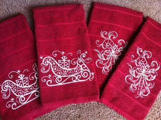 Embroidery It: Machine Embroidered Christmas Handtowels