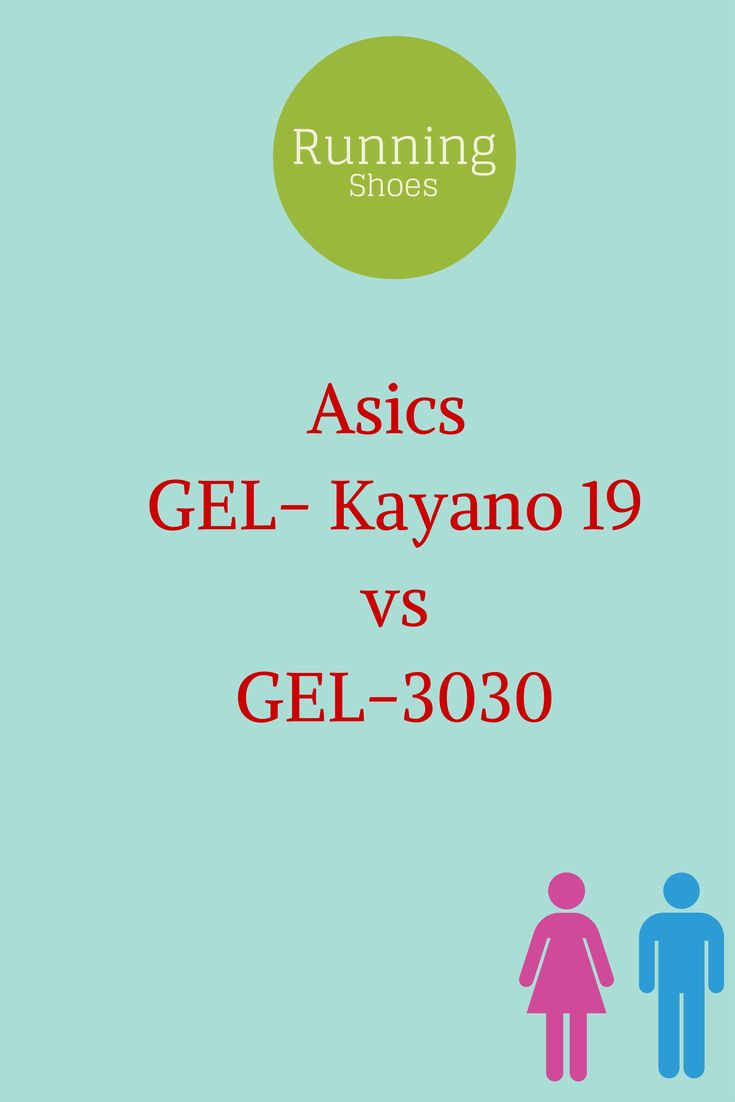 Asics GEL-Kayano 19 vs GEL-3030. A comparison chart of product features between the two shoes.