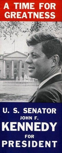 Affiche officielle soutenant JFK pour les élections présidentielles de 1960.