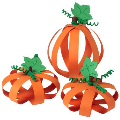 Paper pumpkins. A super-easy paper craft. Could leave the supplies out and let the teens craft freely.