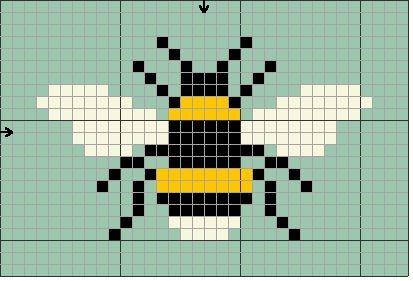 Uma abelha simples para atravessar o ponto