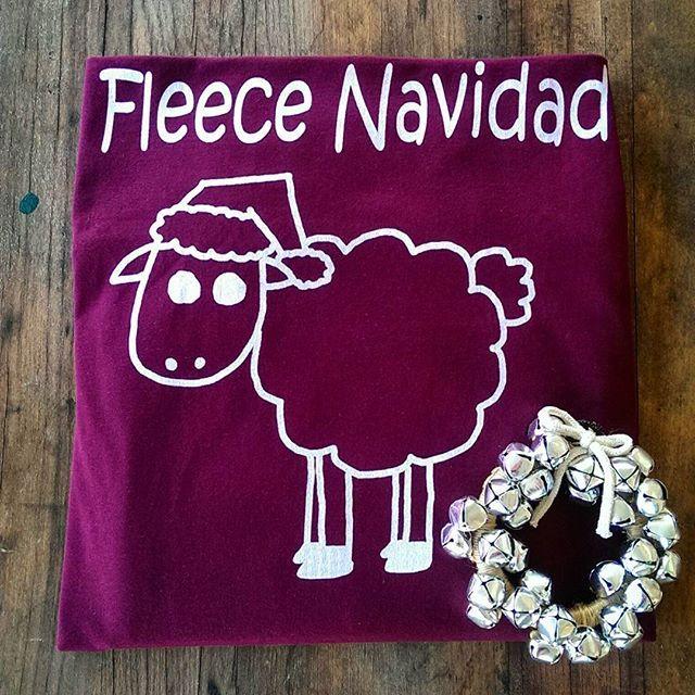 Adorable Fleece Navidad tee!  #feliznavidad #tshirt #pun #sheep #pelicanandwolf