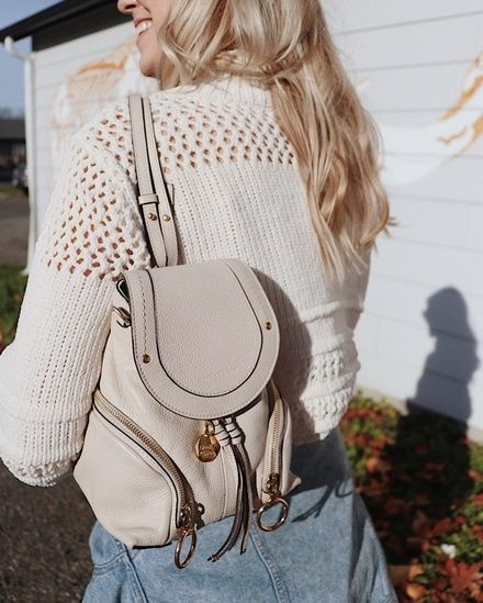 07b99e6758 White sweater with See by Chloe Olga backpack