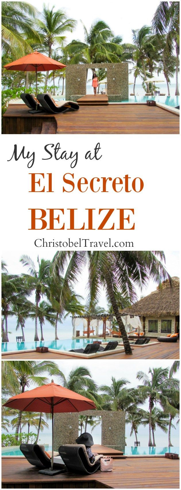 El Secreto Belize in San Pedro, Ambergris Caye. Here is my review on one of the best hotels in Belize. The views from the resort are stunning; perfect for a romantic getaway, quite relaxing holiday, a destination wedding and honeymoon in Belize - by Christobel Travel / Black girls / women travel / Travel with Style / Travel in Style
