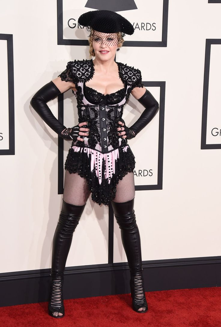 THIS IS SOMETHING YOU WEAR TO STRIP PROFESSIONALLY, NOT GO OUT IN PUBLIC IN...Fashion Hits And Misses From The 2015 Grammy Awards