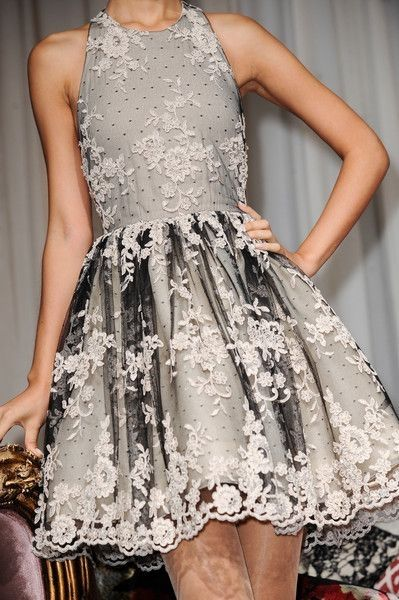 Alice & Olivia Spring 2014 by Janny Dangerous. I want this dress.