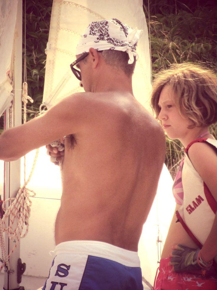 Carlo e Martina. #leganavale #Venotene #vela #famiglie