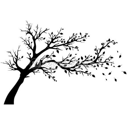 25 best ideas about tree silhouette on pinterest tree for Black and white tree mural