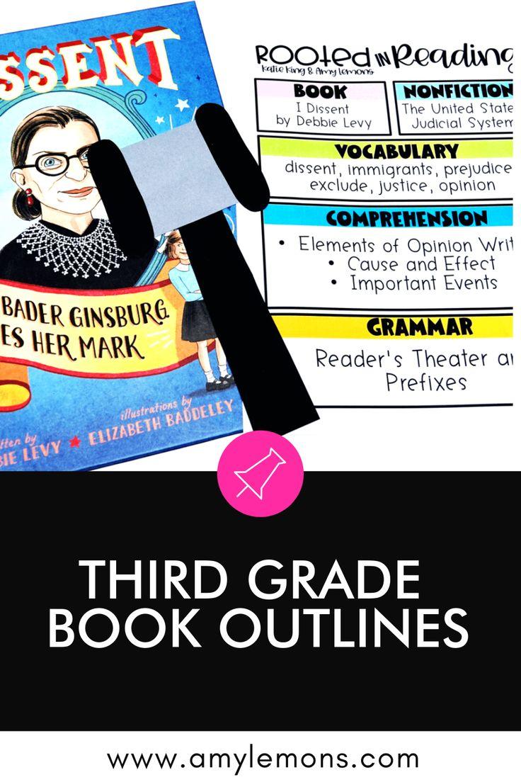 3rd Grade Reading Outlines Amy Lemons in 2020 3rd