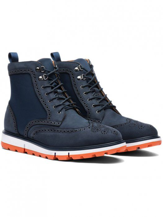 Swims Motion Wing Tip Boot In Navyorange Just In Mens