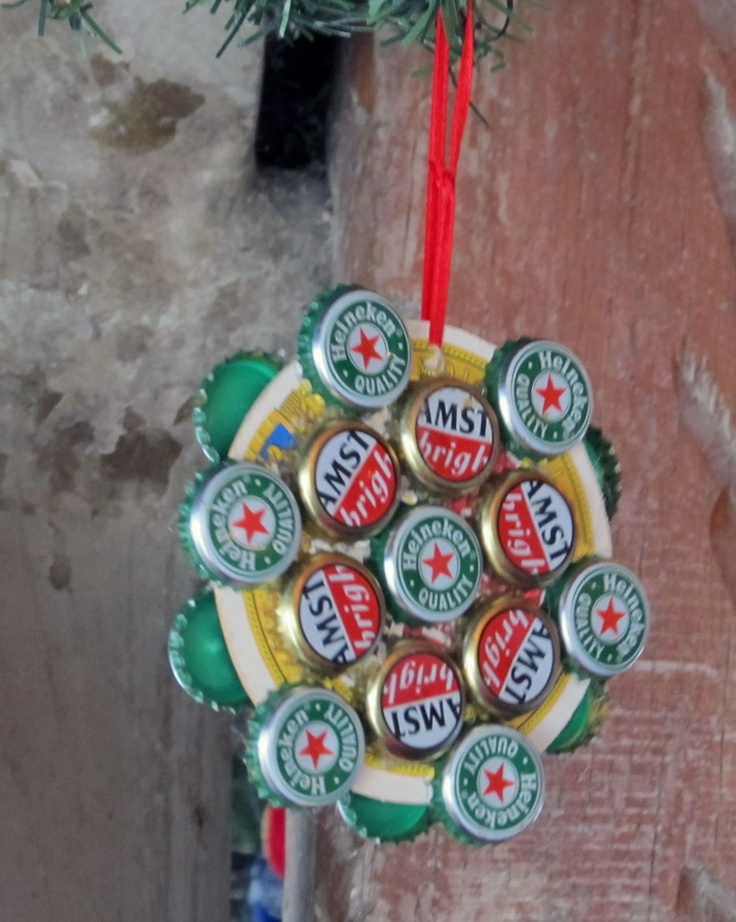 Beer Cap Christmas Ornaments
