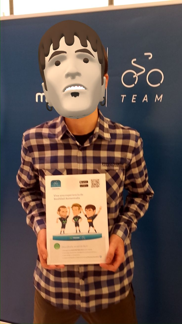 Ion Izagirre #3D model included in the #augmentedreality app of the cycling Movistar Team.