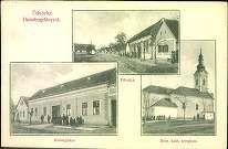 Üdvözlet Dunabogdányról; Fő utca; Községháza; Róm. kat. templom