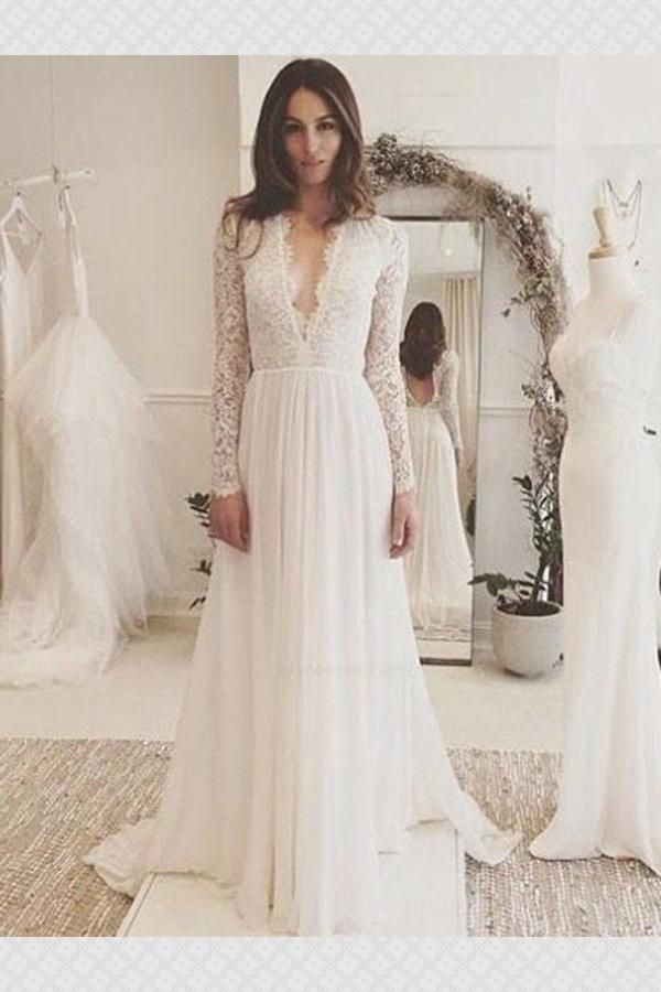 Outlet Absorbing Prom Dress Lace Long Sleeves Wedding Dresses Prom