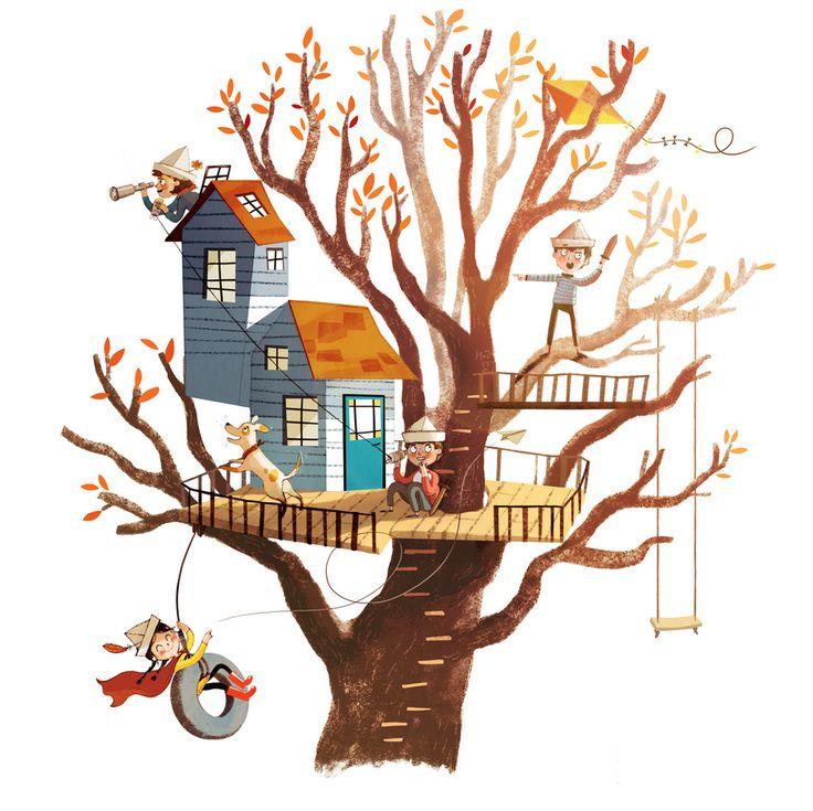 дом на листе дерева картинки