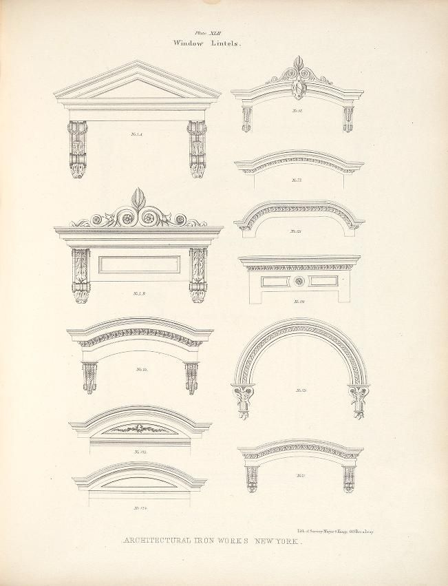 1865 - Illustrations of iron architecture, made by the Architectural Iron Works of the city of New York - by Badger