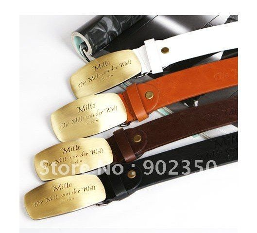 mens belt casual fashion leather belts metal head All-match Belts  Waistband 4 color  YJ197
