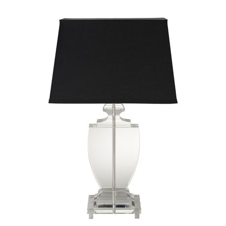 Crystal Table Lamp & Shade 64cm