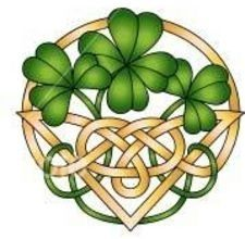Celtic:  Shamrocks and Celtic knot:  Irish Ancestry Search, Irish Genealogy.