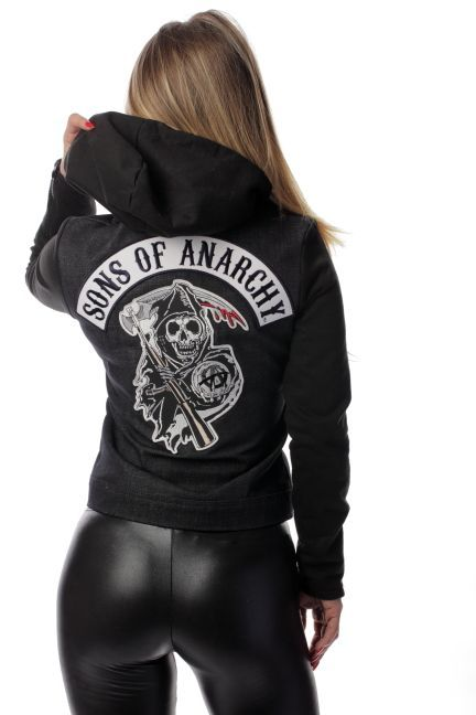 Sons of Anarchy Highway Jacket - Womens Denim Cut | Piston Clothing | Sons of Anarchy Outerwear | Custom Leathers