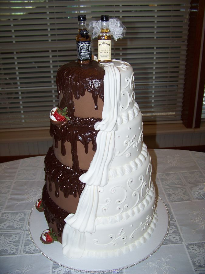 Cowboy+Wedding+Cakes | His & Hers Wedding cake — Round Wedding Cakes