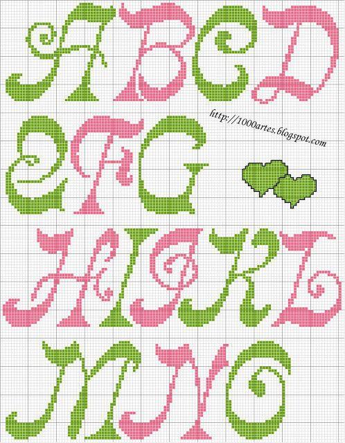 Gráfico Alfabeto - Ponto Cruz - 1000 Artes