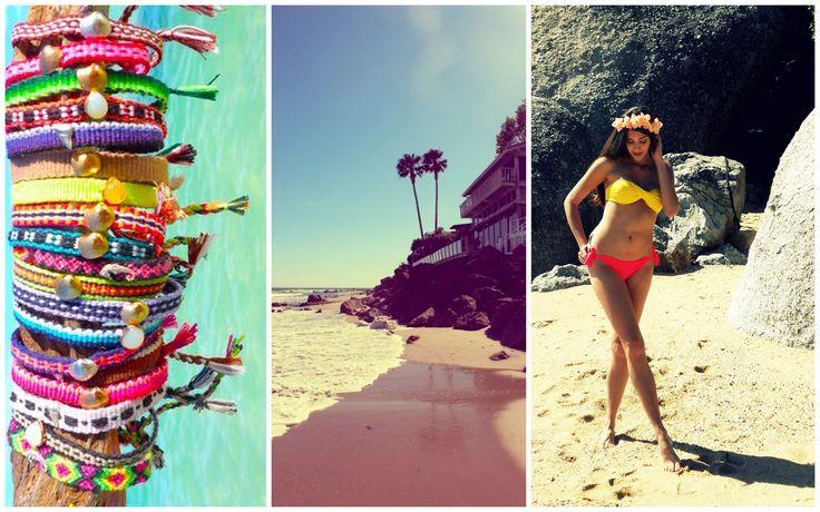 Tropical travels in a bright Scarlett Swimwear bandeau bikini