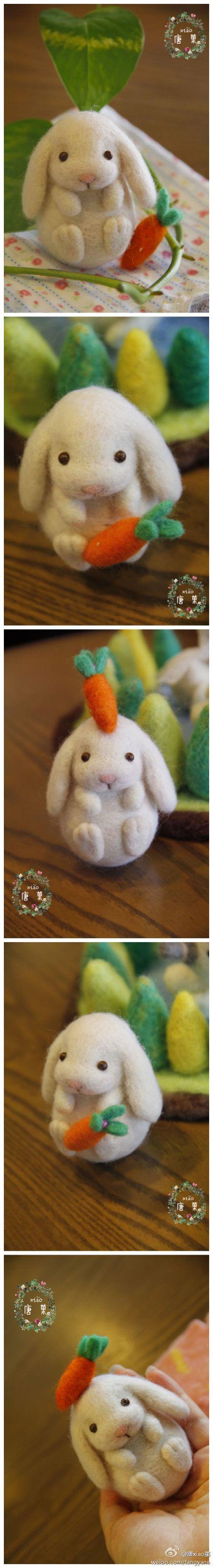 Felt Bunny @Adeline Aya