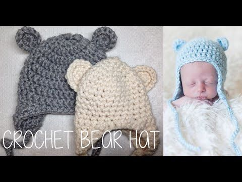 For more information, go to my BLOG: http://www.theiknits.com/2014/04/crochet-bear-hat.html FREE pattern by Repeat Crafter Me: http://www.repeatcrafterme.com...