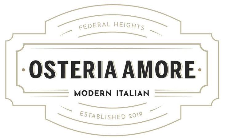 Italian restaurant branding and logo osteria amore in