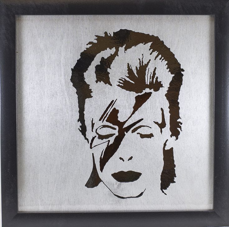 Scroll Art - David Bowie - Mirrored - Spiders from Mars