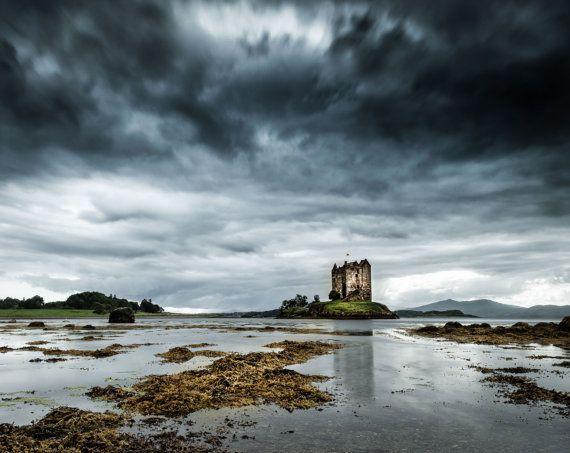 Extra large photography - Scottish Castle Fine Art Print - Outlander - Scottish Print  - Scotland Photography - Highlands - Jamie Fraser