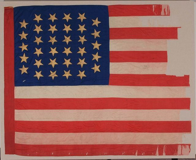Happy Flagday This Flag Was Carried In The Civil War By The 33rd Illinois Infantry And Likely Made By Their Wives And Daughters Th Flag Infantry Civil War