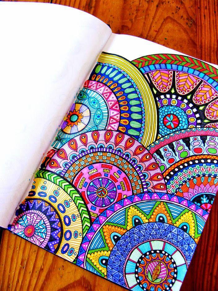 zentangle art color mandalas - Buscar con Google