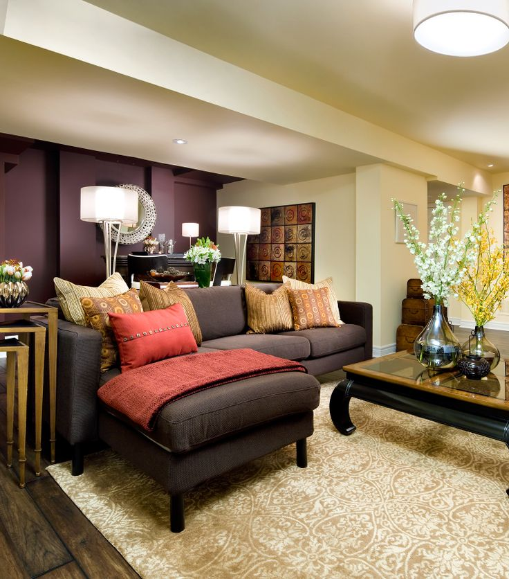 1000 Images About Basement Living Rooms On Pinterest
