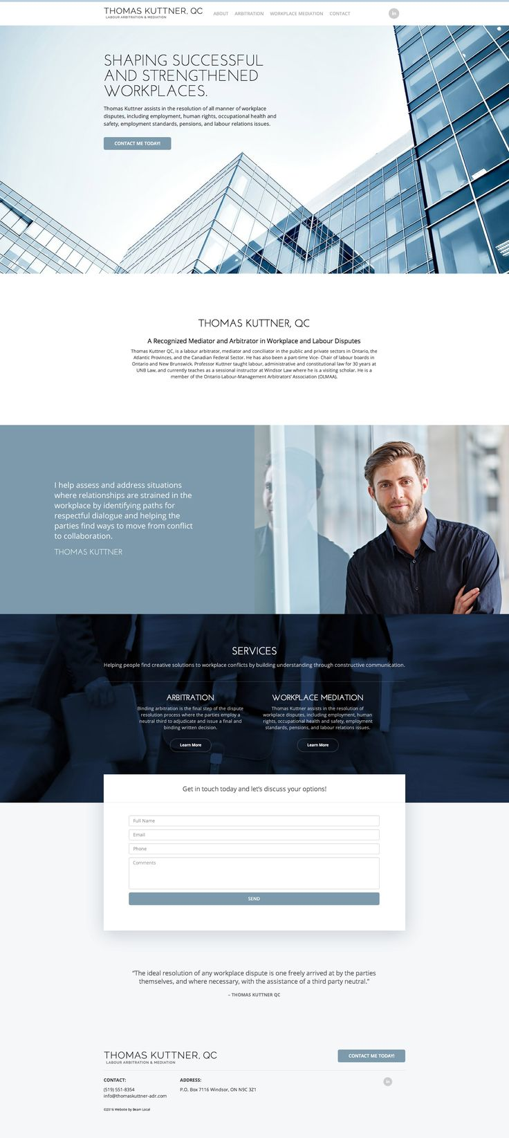 Thomas Kuttner Lawyer Website Design #lawyerwebsites #lawfirmwebsite #lawyer…