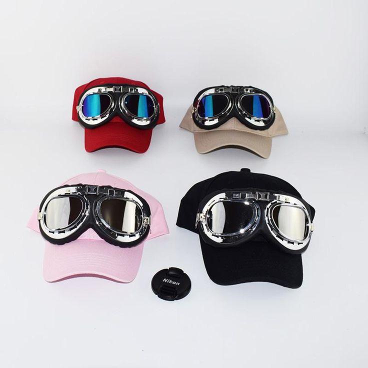 [Visit to Buy] 2017 Fashion Adult's Hip Hop Baseball Cap Summer men's Sun Hat Cartoon Large glasses pilot women Girls snapback Caps  #Advertisement