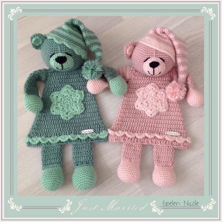 Adorable Bedtime Bears. Inspiration only, no pattern