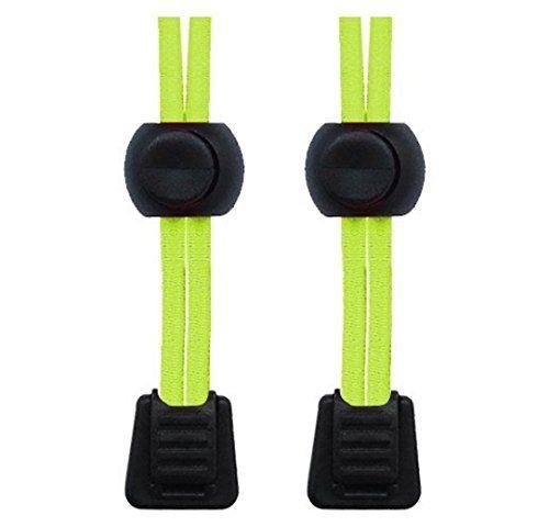 Packung elastische Schnürsenkel mit Schnellverschluss, für Laufen/Triathlon Neon Gelb - http://on-line-kaufen.de/neo-15/neon-gelb-packung-elastische-schnuersenkel-mit