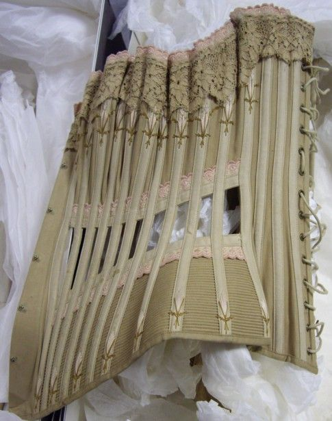 Ventilated corset, from the Symington's Collection at Snibston.
