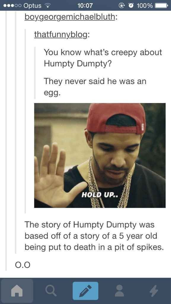 The rhyme never states he's an egg because it's supposed to be a riddle. And no, it wasn't. It's a riddle. You're supposed to be guessing what they're talking about.