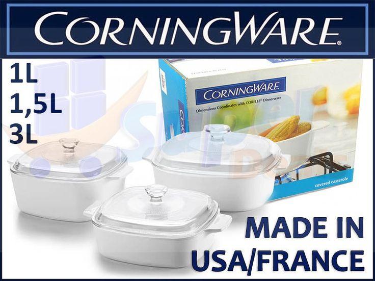 Corning Ware Zeztaw Garnki/ Naczynia żaroodporne 6 el., 1,0-3,0 l