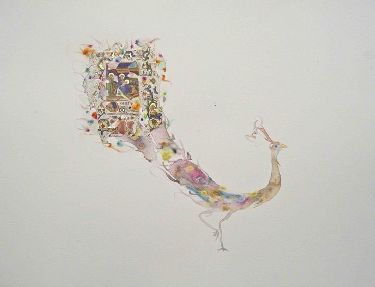 Marc Mulders, 'Paradijsvogel' Aquarel, 50x60 cm